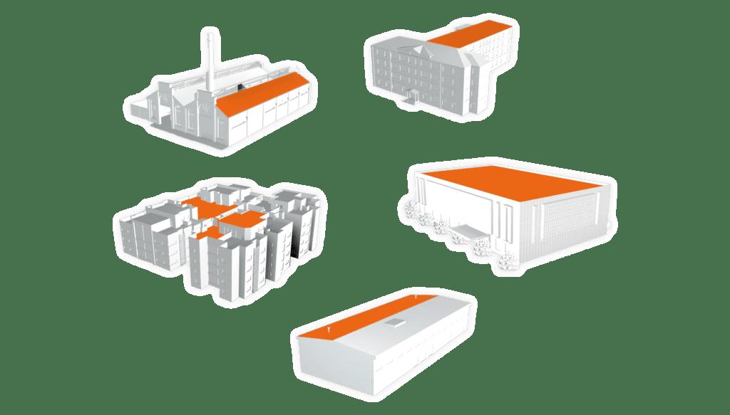 model 3D des toits