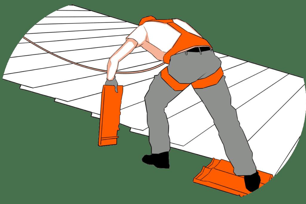 personnage rénovation de toits