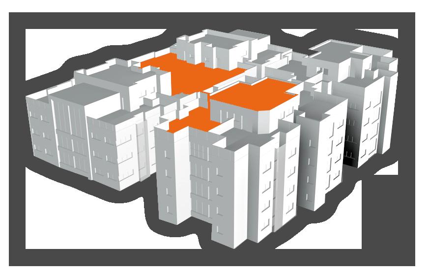 model 3d toit immeuble