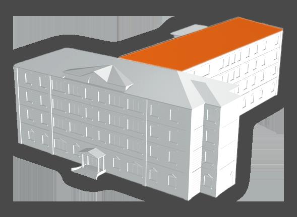 model 3d toit mairie