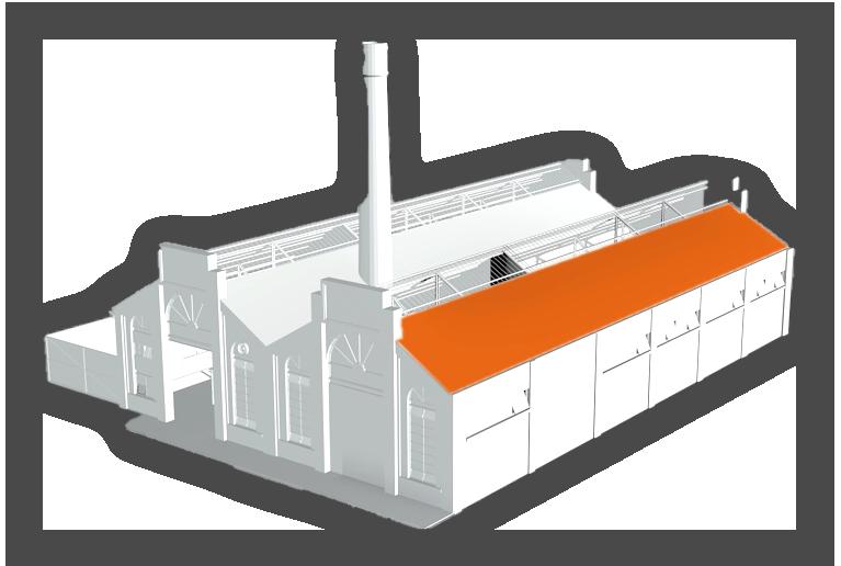 model 3d toit usine